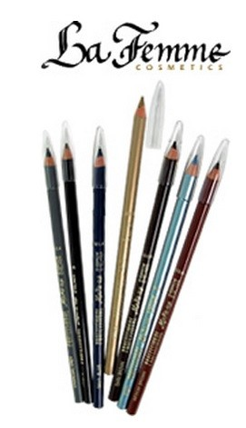 7 Inch Wooden Eyebrow Pencil in PACIFICBLUE