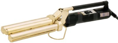 Hot Tools High-Heat 3-Barrel Waver with Gold Barrels