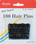 Annie 100 Hair Pins Black